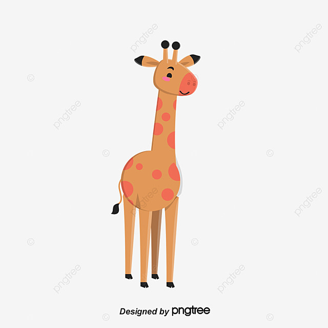 Giraffe Cartoon Vector PNG And
