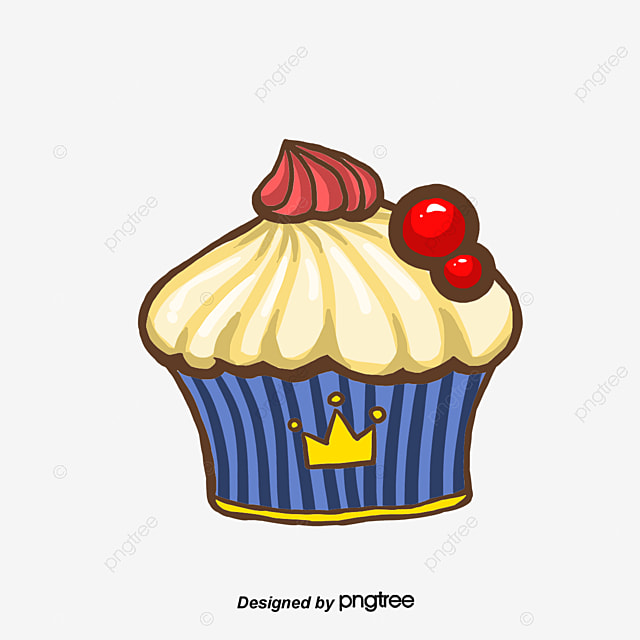 Hand-painted cartoon cupcakes, Cartoon Cake, Hand Drawn Cake, Cup Cake PNG and Vector