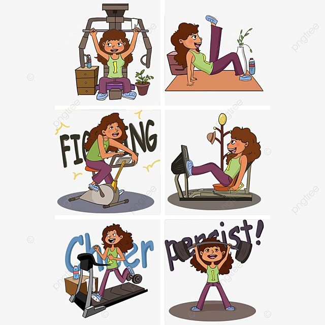 Fitness Silhouette Figures Material Weightlifting Male PNG And Vector