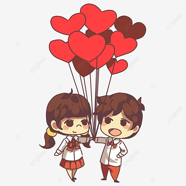 Happy Valentine S Day Cartoon Hand Painted Love Png Image And
