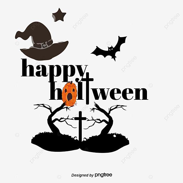 ハロウィン設計元素 ハロウィン西洋節happy holloween魔女コウモリ