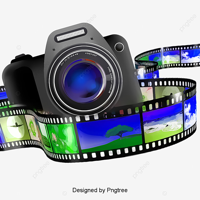 An image of a camera and a film strip