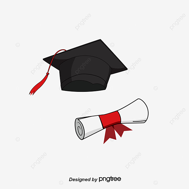 bachelor of cap diploma free png and vector