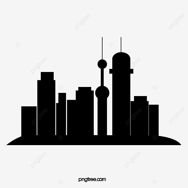 silhouette of city building silhouette vector city vector rh pngtree com  building silhouette vector png