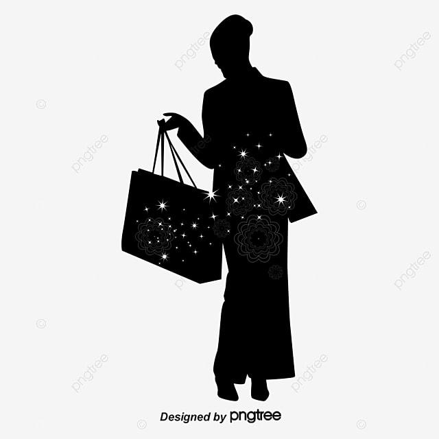 shopping fashion woman silhouette 7b5d6fefd
