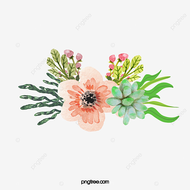 Small Fresh Pink Watercolor Flowers, Watercolor Clipart ...