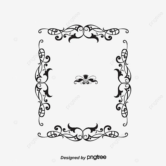 Cadre D Impression Noir Impression Lettres Fichier Png Et