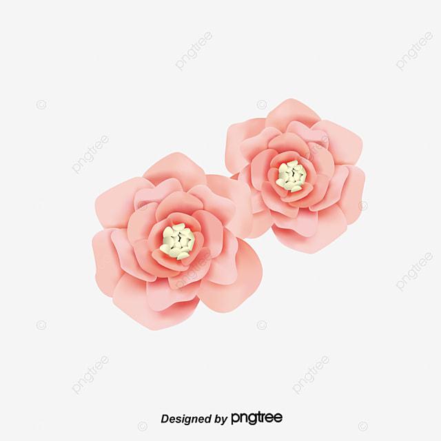rosas cor de rosa com design elegante pintados à mão flor desenho de