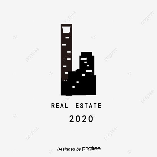real estate logo material flag icon creative design