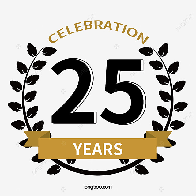 anniversary icon anniversary badge png and vector for free download rh pngtree com 25th anniversary logo free download Golf Logo 25 Th Anniversary
