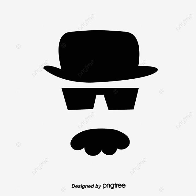 chapeau de barbe noir des lunettes de soleil chapeau image