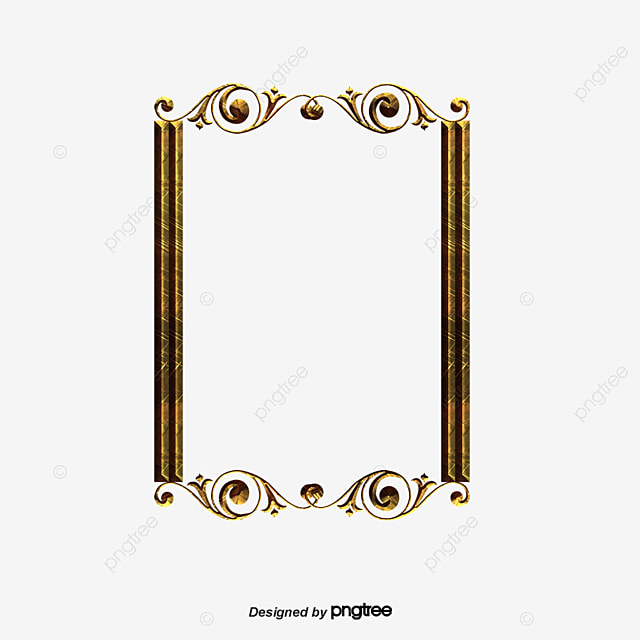 Classical Gold Frame, Classical, Gold PNG and PSD File for Free Download