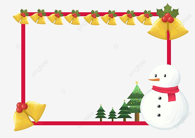 Campanas De Navidad Marco Dorado, Frame, Frontera De Navidad, Marco ...