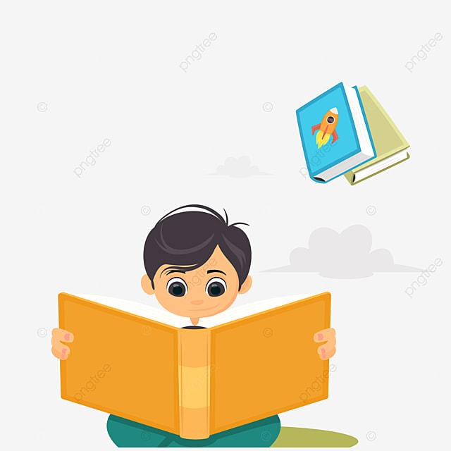 Cartoon Children Reading Cartoon Clipart Children Clipart Reading