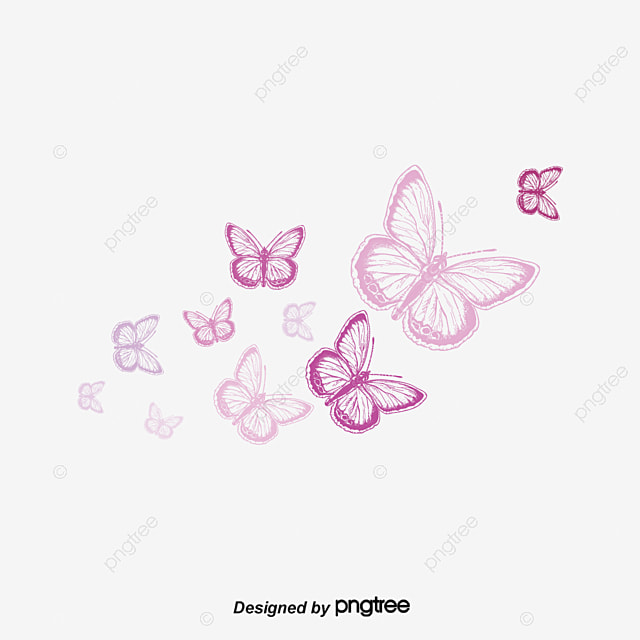 Flying Butterfly Pink Butterfly Beautiful Png And Psd