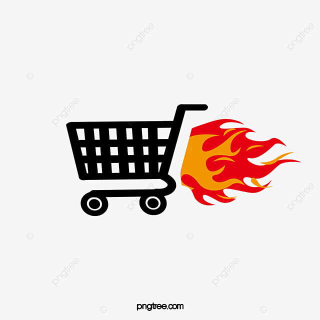 flame shopping cart icon shopping cart flame shopping png and rh pngtree com shopping cart icon vector png shopping cart bag icon vector