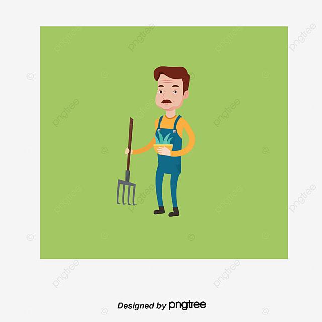 Diseño De Dibujos Animados Vector Material Descargado De Jardinero