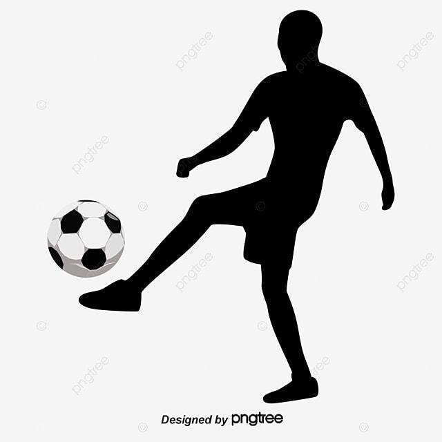 les joueurs de football de silhouette les joueurs de