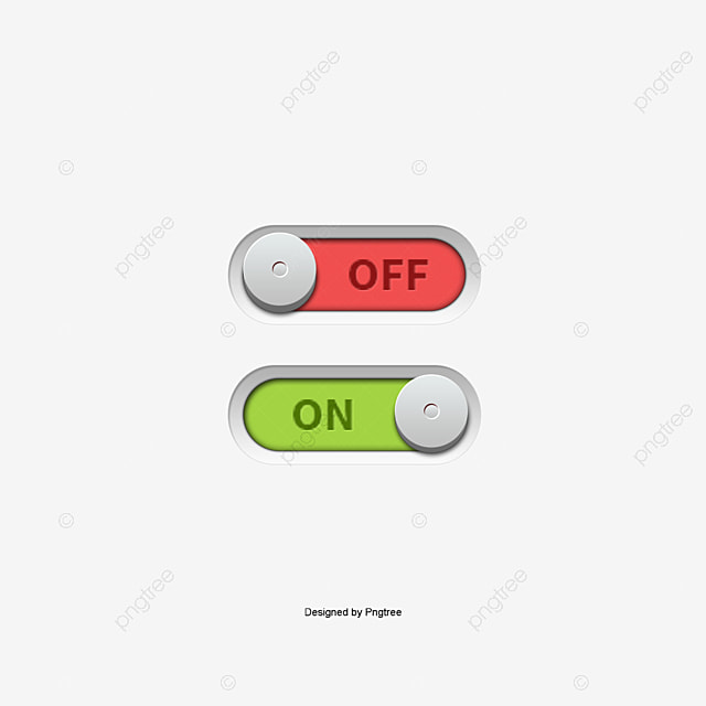 Onoff Switch Button Vector, Page Decoration, On, Off PNG ...