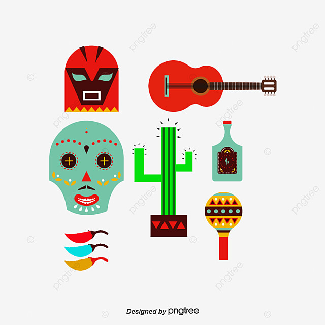 mexican style cactus guitar png and vector for free download