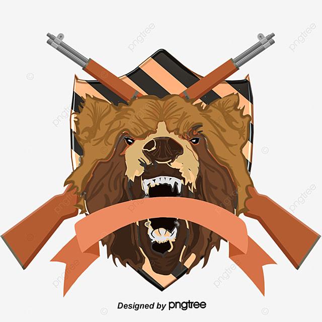 Hunting Black Bear Artistic Creativity Diagram Black Vector Bear