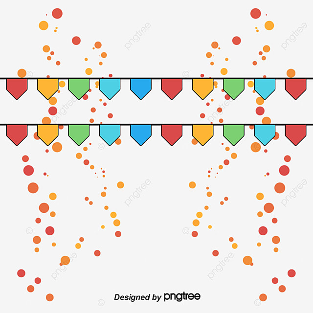 Party Bunting Decoration Birthday PNG And Vector