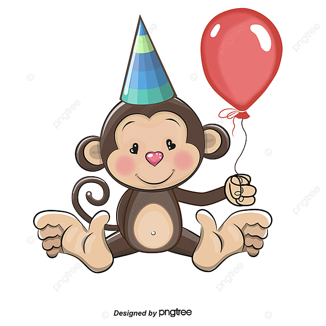 Открытка с обезьянкой на день рождения, картинки надписью