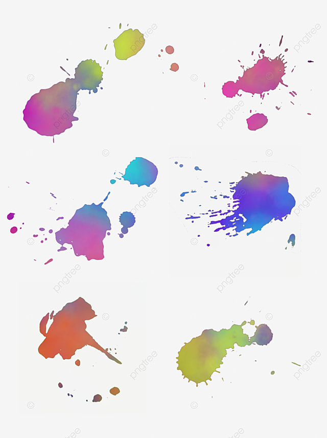 Splash Watercolor Effect Pattern Material Watercolor