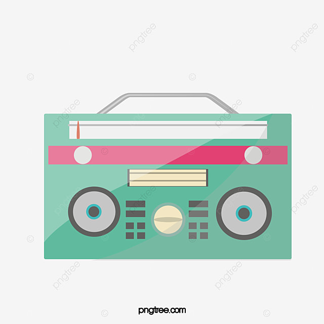 radio, Cassette Player, Cartoon PNG Image and Clipart for ...