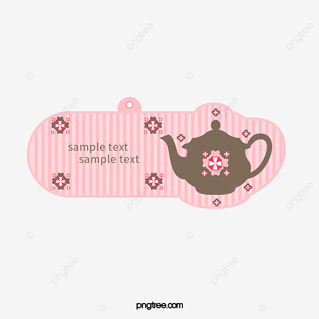 cute pattern teapot label templates download pattern vector label