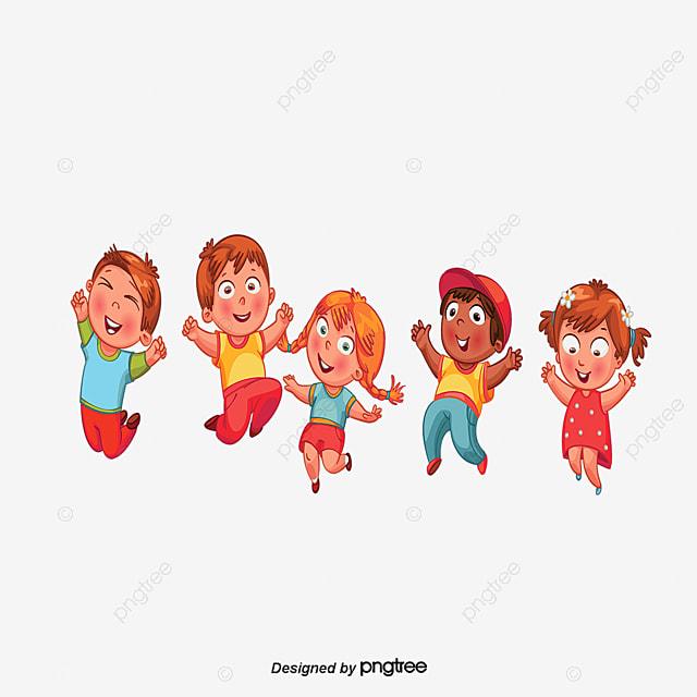 Personajes De Dibujos Animados Grupo De Niños Los Niños Tomados De