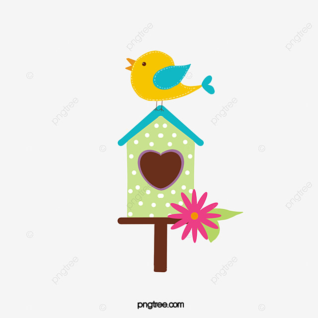 Bird House, Bird Vector, House Vector PNG And Vector With