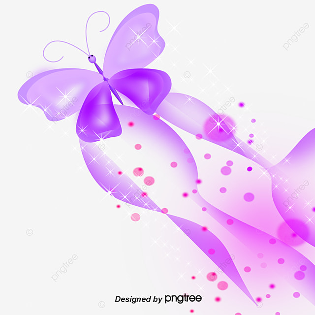 Colorful Butterfly Purple Light Starlight Png And Psd