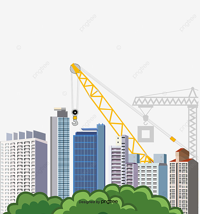 Building Construction Construction Site Construction Crane Png