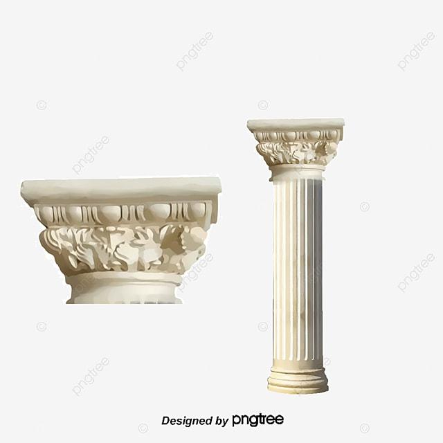 Roman Pillar Design Vector Material Roman Arched Door