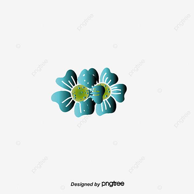 Flores Azules Vector Flores Azules Vector Pintado A Mano De Flores