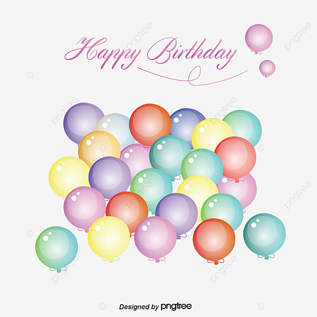 Creative Birthday, Balloon, Color, Happy Birthday Free PNG And Vector