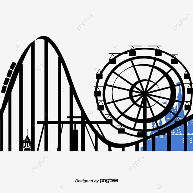 roller coaster sky cartoon playground png image and clipart for rh pngtree com roller coaster clipart images free roller coaster clipart transparent background