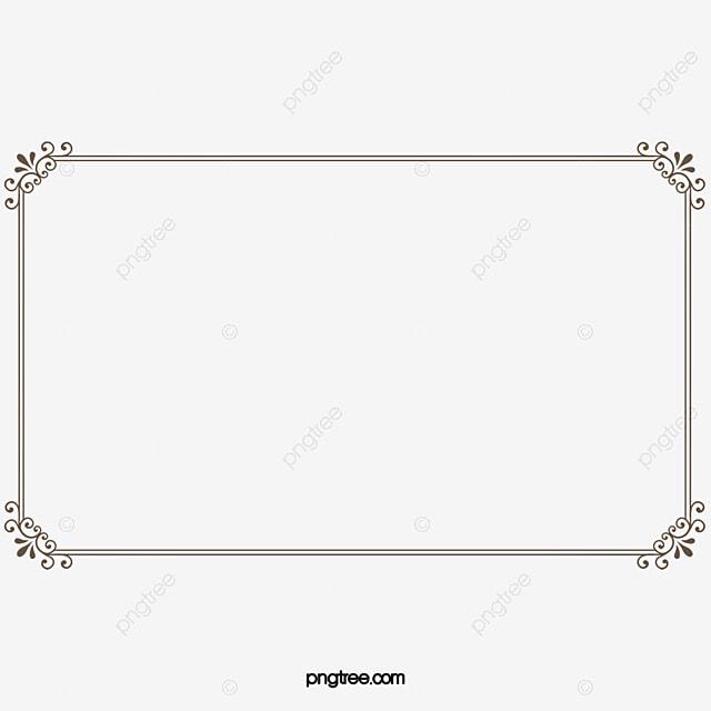 certificat de cadre cadre de certificat marron image png