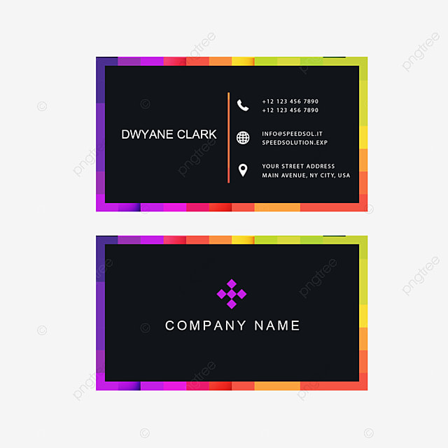 Business Card, Business Card Template, Color PNG and PSD File for ...