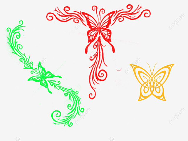 butterfly border butterfly clipart frame retro png