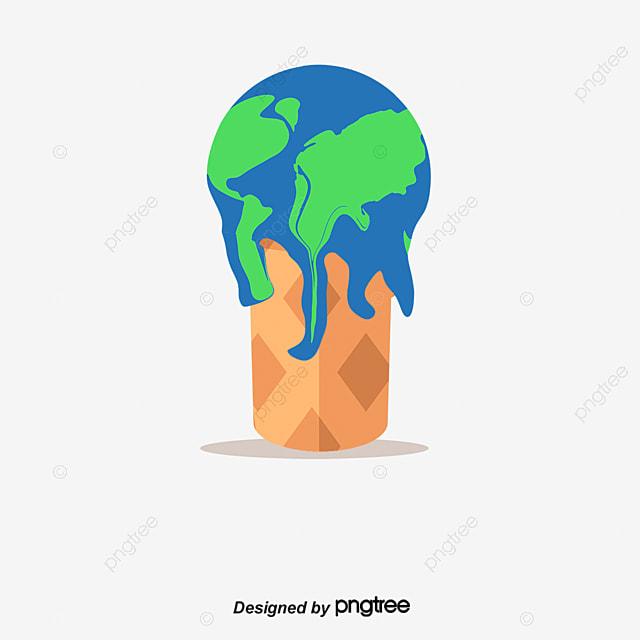 Melting Ice Cream Simple Wallpaper Designs: Earth Melting Ice Cream, Ice Cream, Earth, Environmental
