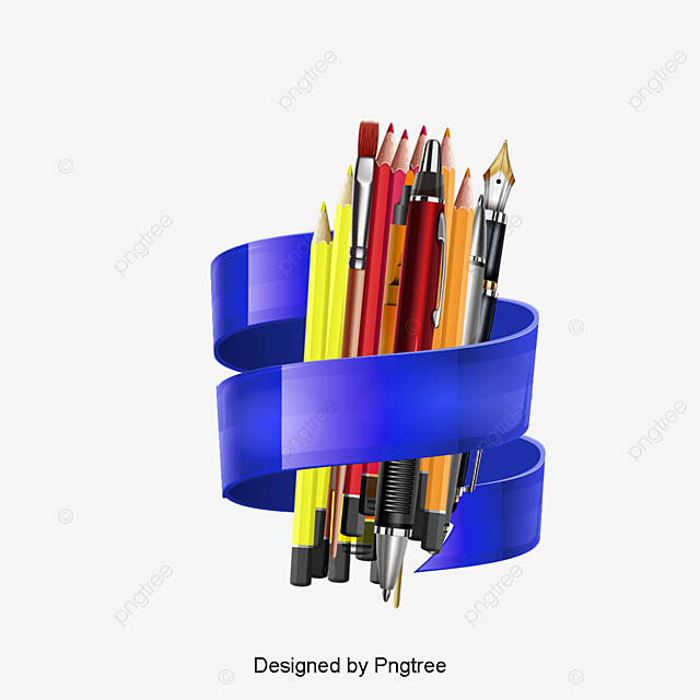 stationery vector material stationery school supplies pen png and