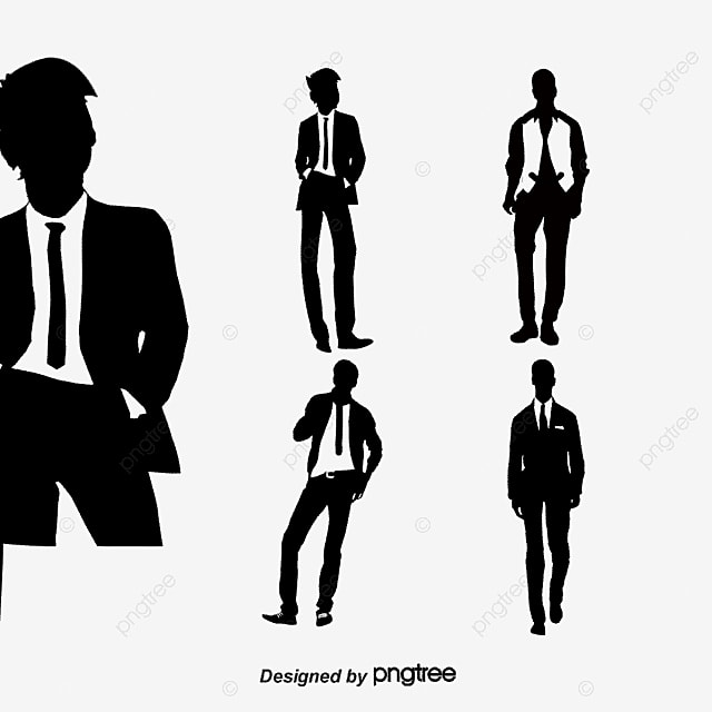 Men's Fashion Silhouette Vector Material,, Fashion, Men's ...