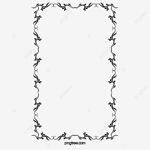 black and white musical notes border black and white note frame free png image - Music Note Picture Frame