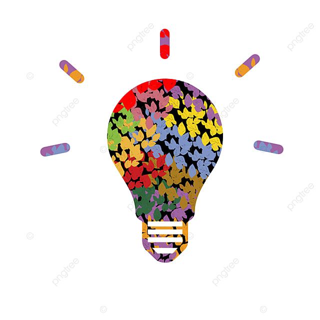 Creative Icon, Light Bulb, Electric Light, Behind PNG and Vector