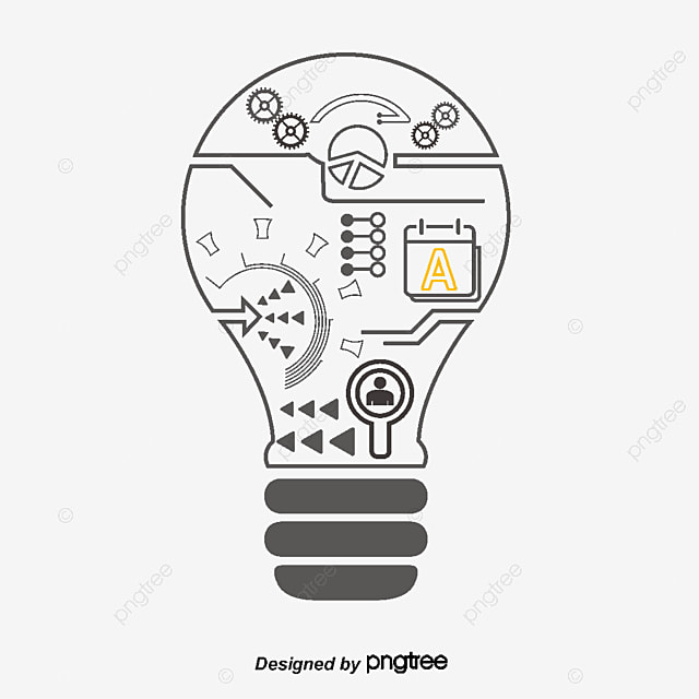 Creative idea icon, Letter, Gear, Circuit Board PNG and Vector
