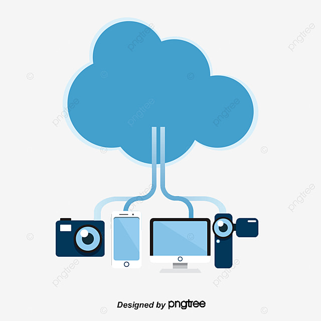 Cloud Storage icon, Logo Mark, Blue, Abstract PNG and Vector