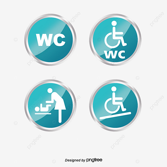 Toilet Sign WC Toilets PNG And Vector