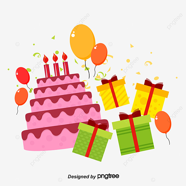 birthday cake birthday gift cake png and vector for free download rh pngtree com birthday vector art birthday vector free